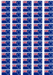 Cook Islands Flag Stickers - 65 per sheet